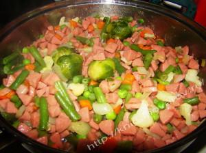 Овощи сосиска 6